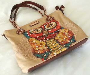 Owl Purse by Nicole Lee